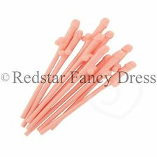 HEN PARTY WILLY STRAW HEN NIGHT OUT NOVELTY SUCKING STRAWS GIFT FUN