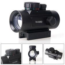 1x40 Airsoft  Red Green Dot Optic Sight Scope 20mm Rail Rifle Pistol Mount