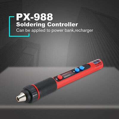 PX-988 Stainless Steel Adjustable Repair LCD Welding Electric Soldering Iron USB