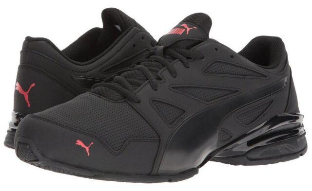 1e48f4fdf788 Puma Men s Tazon Modern SL FM Running Shoe Black High Risk Red Model 190296