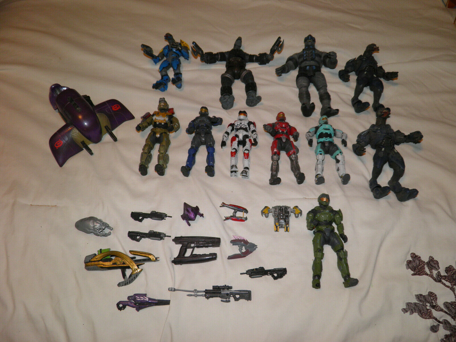 Halo Reach Mcfarlane 2008-2011 Lot Of 11 Microsoft Figures And Weapons