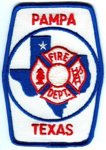 Pampa Fire Department Patch Texas TX