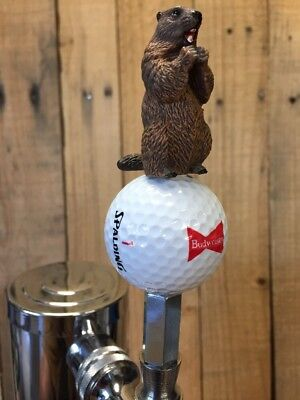 Guinness Beer TAP HANDLE Caddyshack Gopher Callaway Ball Pull Knob