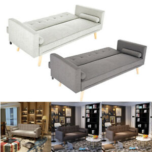 3-Seater-Sofa-Bed-Linen-Fabric-Lazy-Sofa-With-Padded-Cushions-Living-Room-Settee