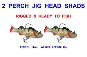 Sea Coarse Predator Perch Pike Fishing Lures Swim Shads X 6 4 Jig Heads