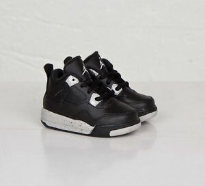 Toddler-Nike-Air-Jordan-IV-4-Retro-Sneakers-New-Black-White-Oreo-707432-003