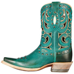 ARIAT-Paloma-Women-039-s-Turquoise-Western-Snip-Toe-Teal-Cowgirl-Boots-10010989-NIB