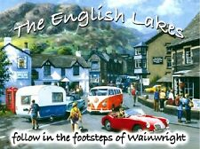 Wainwright The Lake District VW Camper Car Old Classic Small Metal/Tin Sign