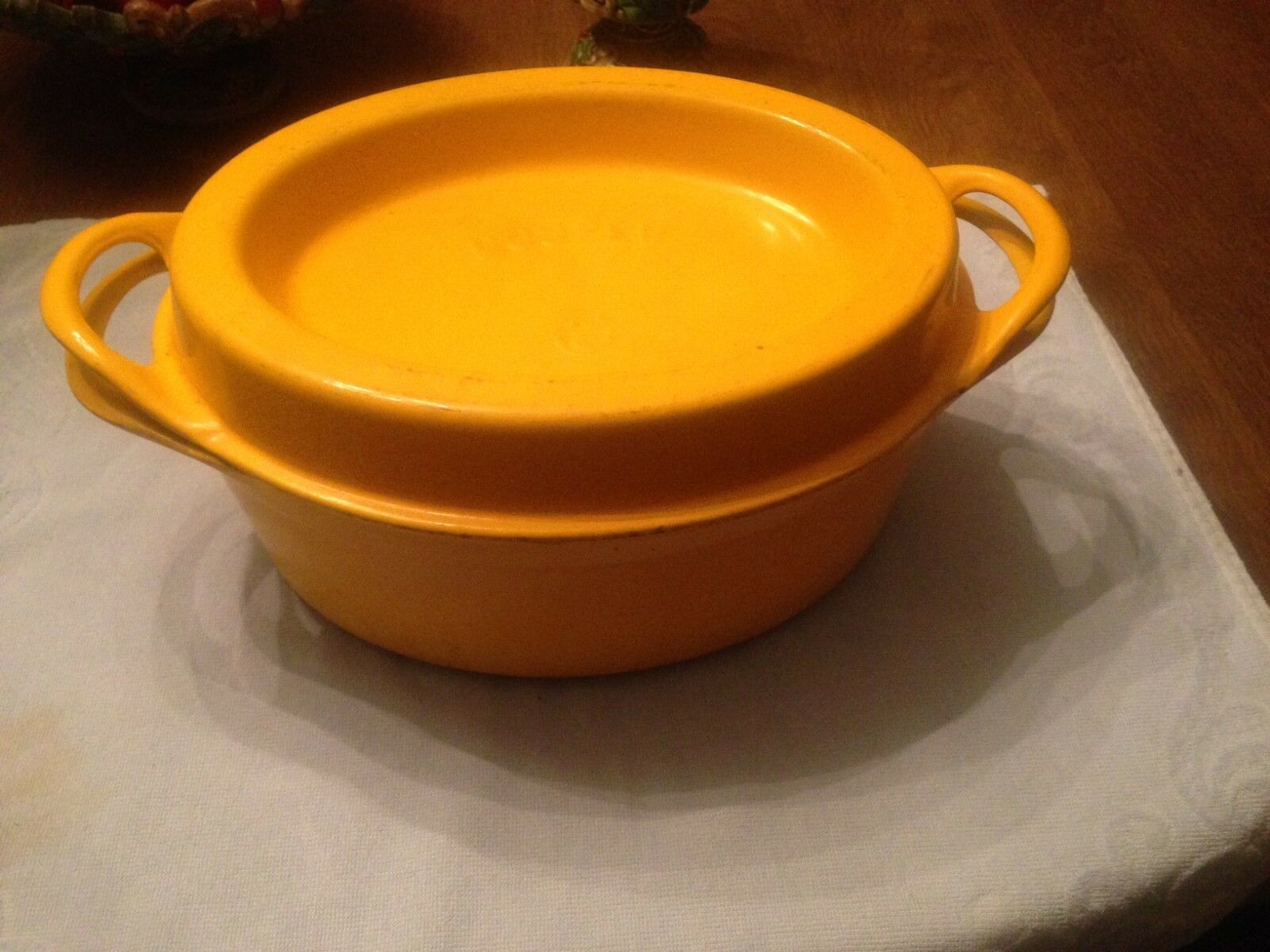 Rare Yellow Doufeu Cousances 16 Dutch Oven Cast Iron Enameled Pre Le ...