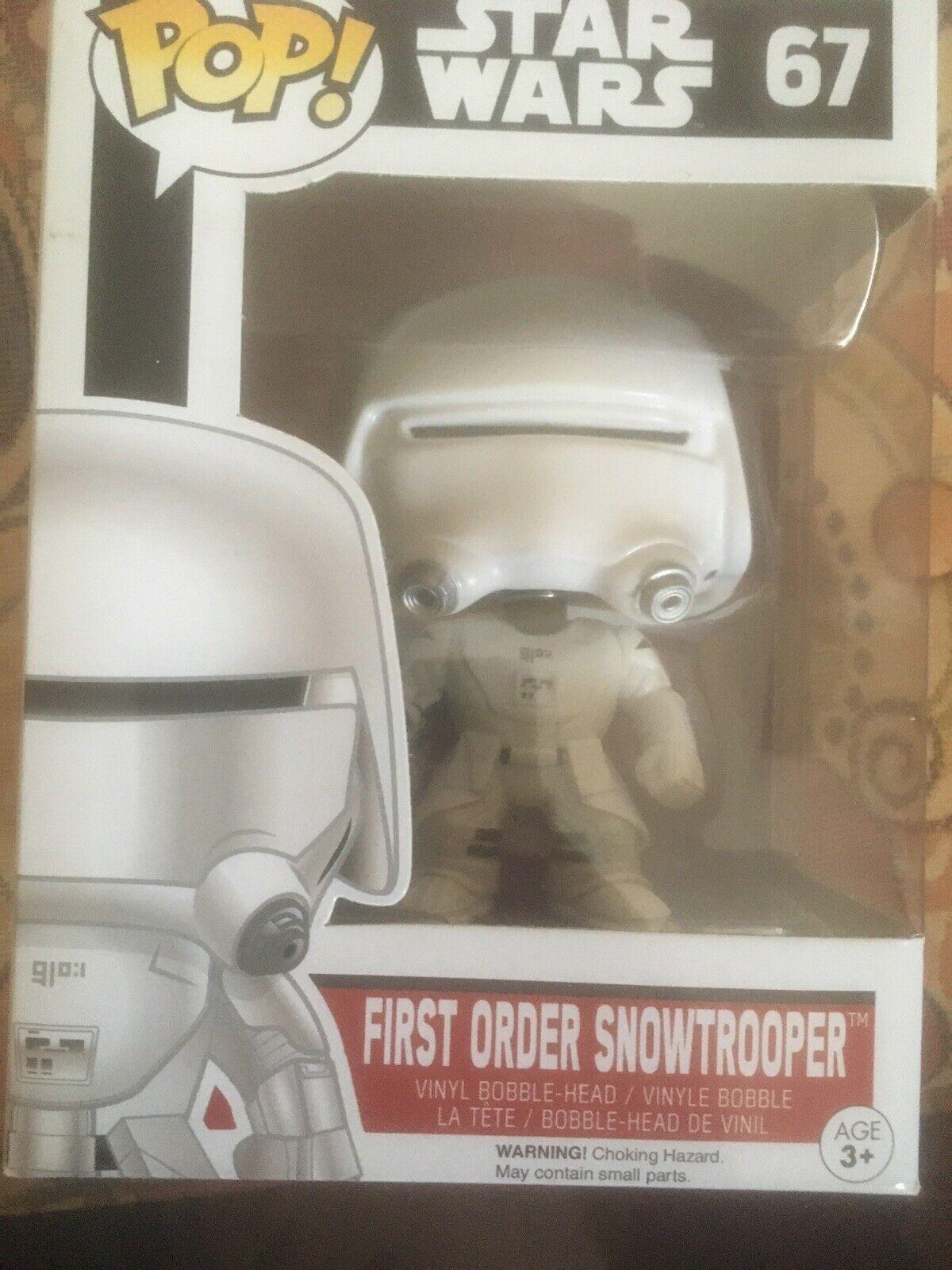 Funko Star Wars The Last Jedi POP First Order Snowtrooper Vinyl Fig NEW IN STOCK