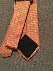 Salvatore Ferragamo Ribbon Dog Orange Silk Tie NWT