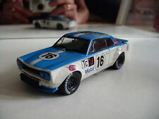 Ebbro MMP Nissan Skyline GT-R 1972 Fuji M Hasemi in White/Blue on 1:43