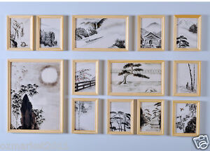 Modern-Chinese-Home-Wall-Decoration-Burlywood-Wooden-Photo-Frames-Set-Of-13-PCS