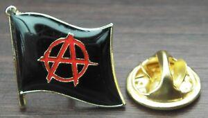 Anarchy Anarcho-Capitalism Flag Pin Badge