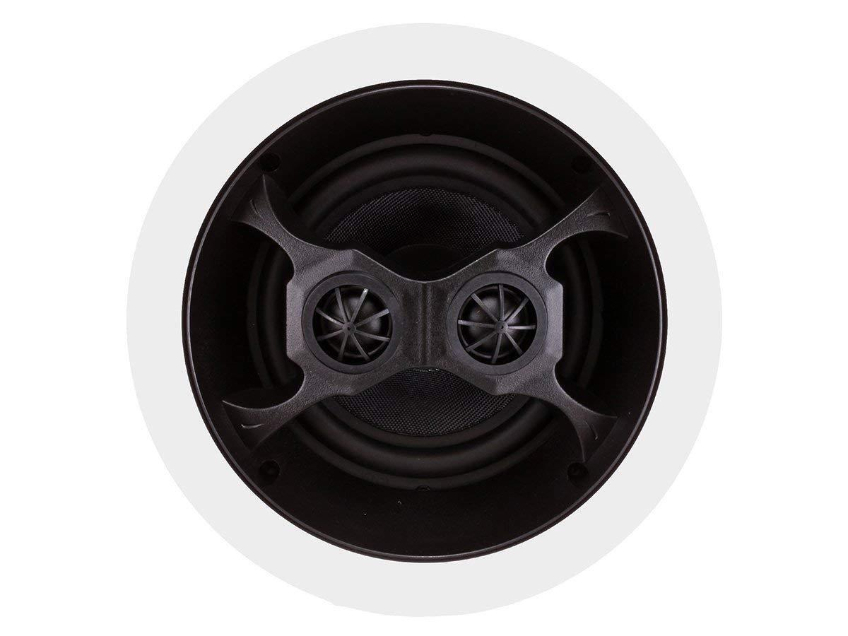 Monoprice 104619 Glass Composite 3-Way Dual Voice Coil In-Ceiling Speakers. Pair
