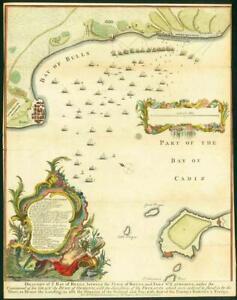 Map Of Spain Vigo.Details About 1751 Original Antique Map Spain Braught Of Ye Bay Of Bulls Vigo Rotta Lm6