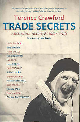 1 of 1 - Trade Secrets 'Australian Actors and Their Craft Crawford, Terence