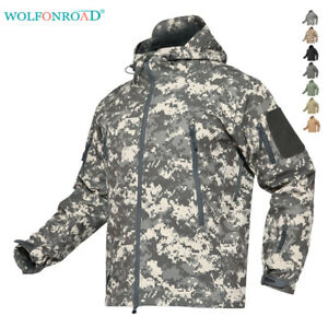 Coat impermeabili antivento Soft militari Army Cappotti Shell Outwear tattici xXOPwwg