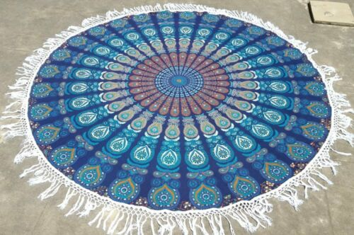 Indian Round Mandala Tapestry Bed Throw Towel Yoga Mat Tapestries Beach Throw