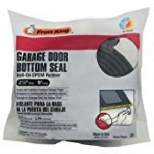 Courageux Frost King G9 Nail-on Rubber Garage Door Bottom Seal,2-1/4-inch By 9-foot, Black