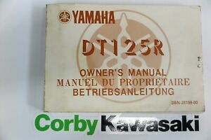 YAMAHA DT125R OWNERS MANUAL