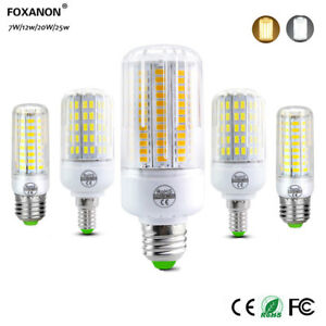 LED-Corn-Bulb-SMD-5730-light-E27-E14-7W-12W-20W-25W-White-Ampoules-6500K-AC-220V