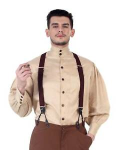Image is loading Men-039-s-Ste&unk-Old-Fashioned-Western-Costume-  sc 1 st  eBay & Menu0027s Steampunk Old-Fashioned Western Costume Shirt Amish Victorian ...