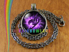 Anime Fairy Tail Guild Marks Purple Wing Cosplay Necklace Pendant Jewelry Gift