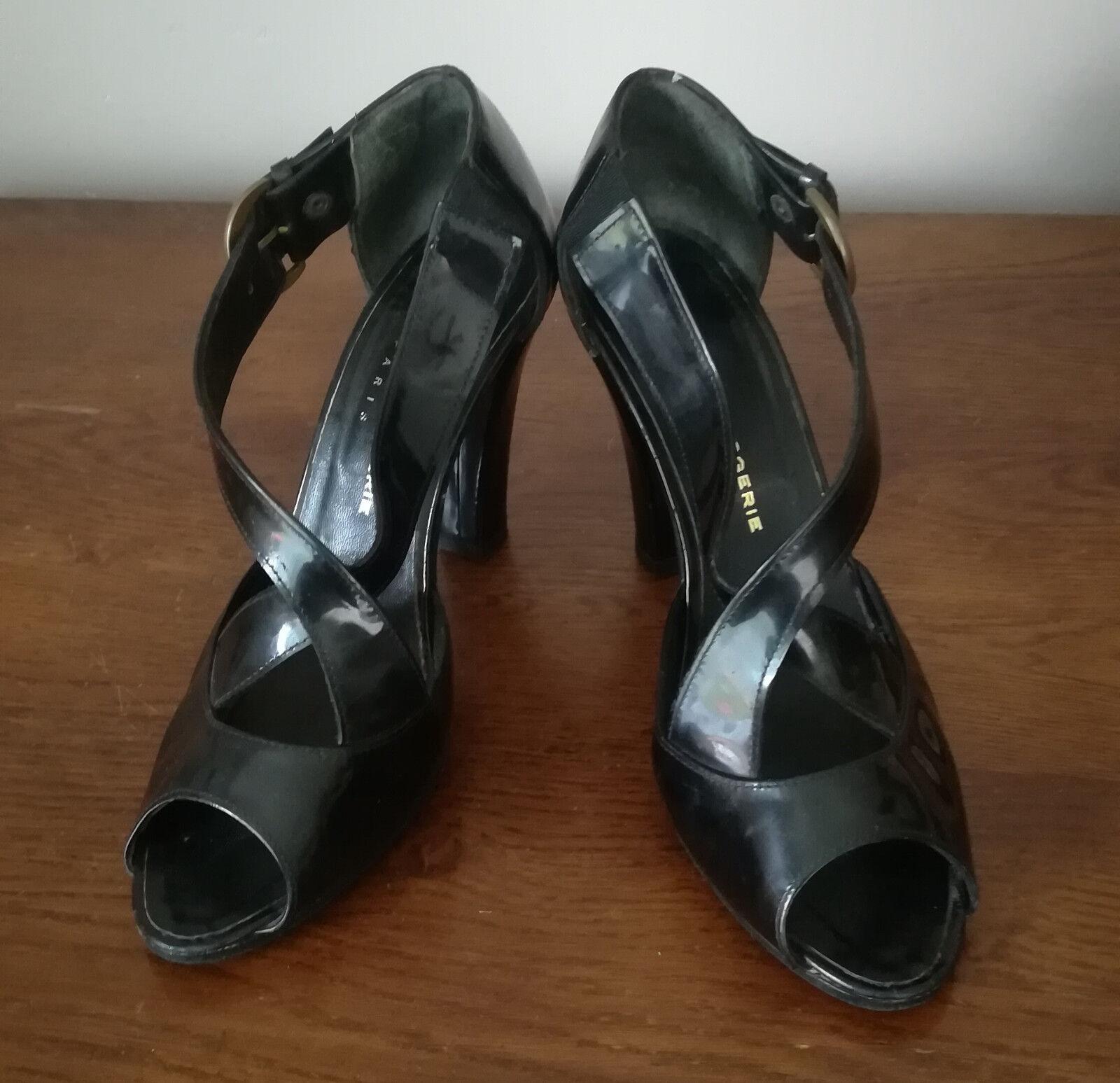 zapatos ESCARPINS BOUTS BOUTS BOUTS OUverdeS - ROBERT CLERGERIE -CUIR VERNI negro- PT 37,5  promocionales de incentivo