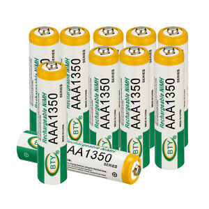 4/8/10 PCS Battery 1.2V AAA AA 1000-3000mA Ni-MH Rechargeable Battery