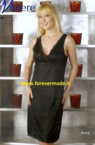 Sottoveste donna Venere a spalla larga con forma del seno e bordi pizzo art Anna