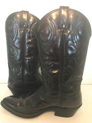 Acme suede cowboy boots size 8
