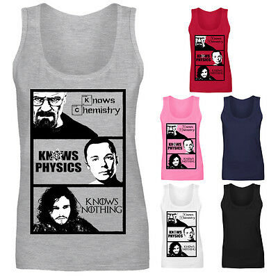 Womens Sons of Chemistry Walter White Breaking Bad Vest Tank Top NEW UK 8-18