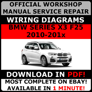 Cool Official Workshop Repair Manual For Bmw Series X3 F25 2010 2017 Wiring Cloud Oideiuggs Outletorg