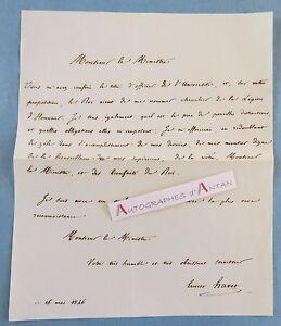 L-A-S-1846-Ernest-HAVET-Historien-Nomination-par-Roi-gt-Legion-d-039-Honneur-lettre