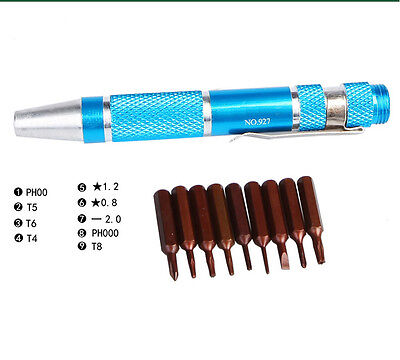 9In1 Phillips Torx 4 5 6 Pentalobe 5 Point Screwdriver For iPhone Macbook Laptop