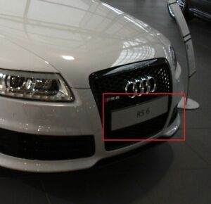Genuine-AUDI-RS6-RS6-Plus-Trim-For-Licence-Plate-Briliant-Black-4F0807285BMY9B
