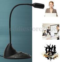 Desktop Mini Studio Speech Mic Stand Microphone for PC Computer Laptop Notebook