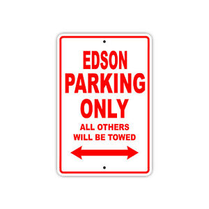 Edson Parking Only Boat Ship yacth Marina Lake Dock Aluminum Metal Sign