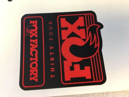 FOX Factory Series Fork 34 Red Left and Right Decals Set 34mm Stickers
