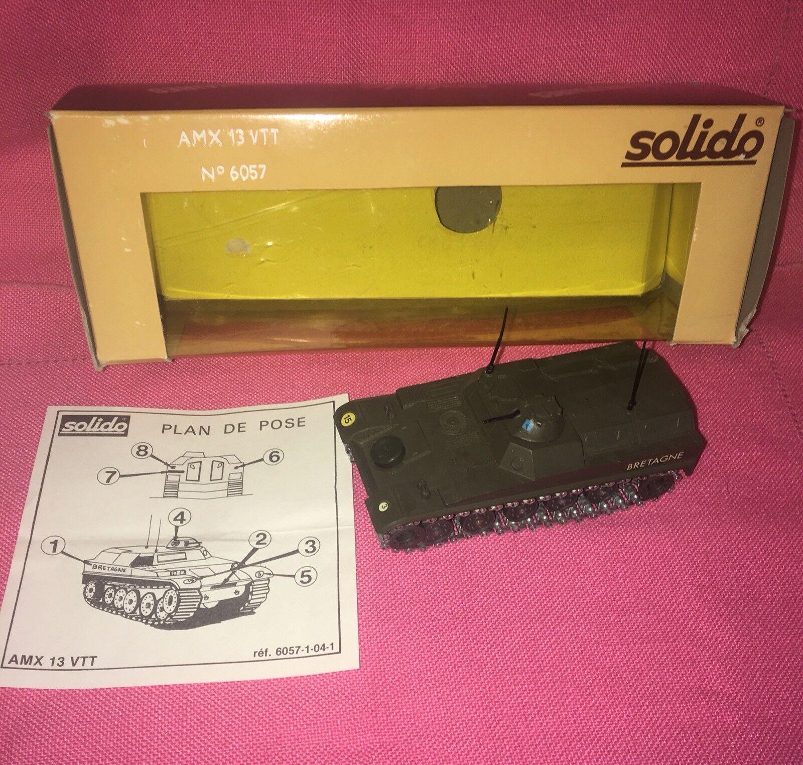 SOLIDO No. 6057 AMX 13 VTT - No. 227 - Apr 1971- AMX-13t