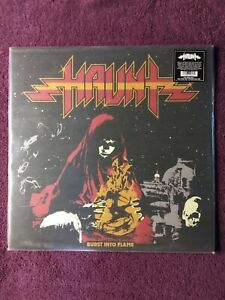 HAUNT-Burst-Into-Flame-LP-Colored-Vinyl-Album-NEW-Heavy-Metal