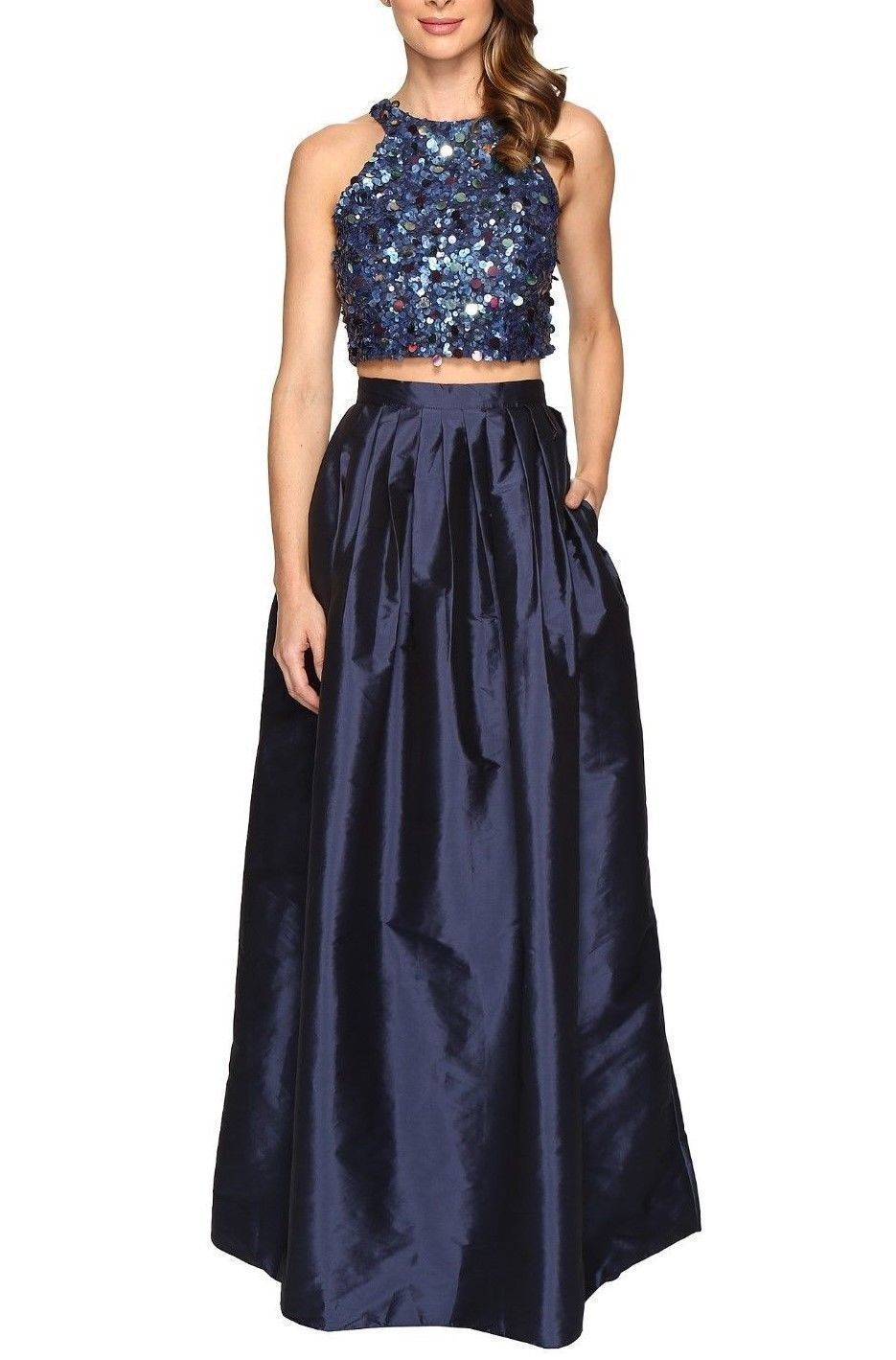 NWT  Adrianna Papell Embellished Two-Piece Ballgown [Größe 2]  e102