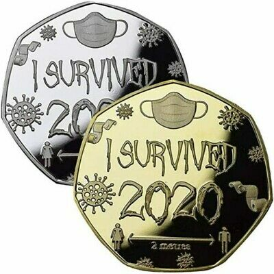 """/""""I Survived 2020/"""" The Commemorative Silver Plated Coin IN STOCK!!"""