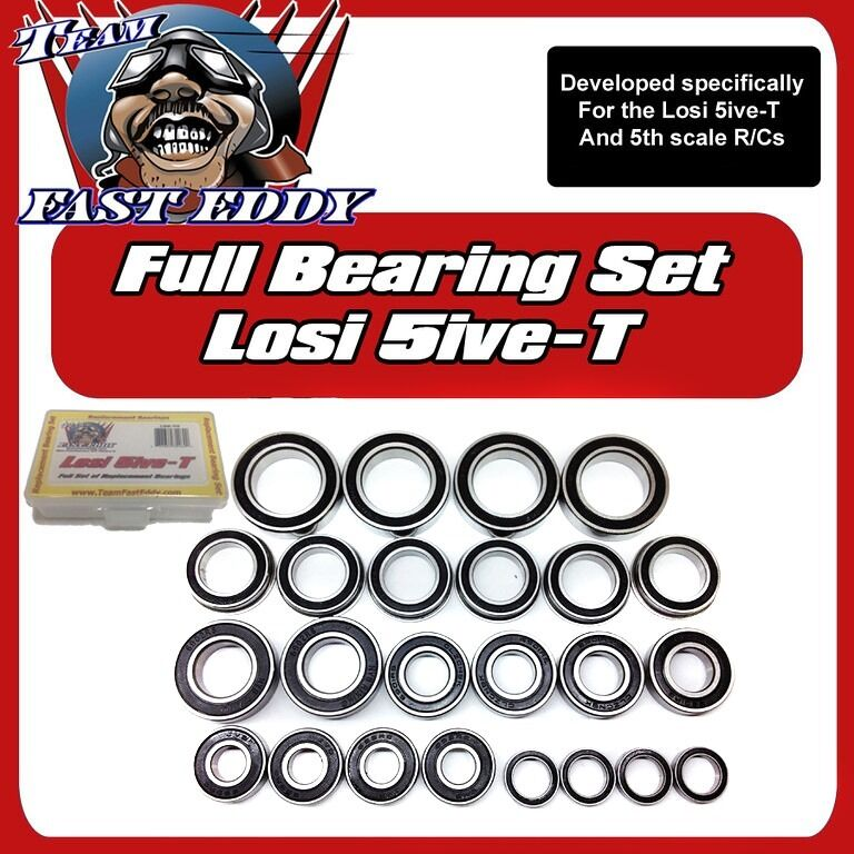 Team FastEddy Fast Eddy Losi 5ive-T Full Replacement Bearing Set