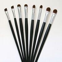 8 Pc Beautydec Eye Makeup Brush Set Kit Cosmetic Eye Shadow Blend Black Brushes
