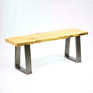 Raw Steel table & bench legs, U or X shape metal tubing, cast iron base, gas pipe table frame Canada Preview