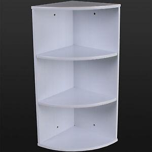 bathroom corner shelving storage unit wooden shelves white