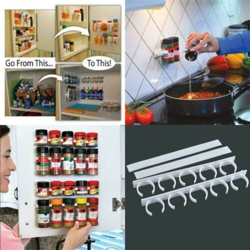 Storage Holders Racks Casters Spice Bottles Fit Kitchen Fridge Door Back Wall