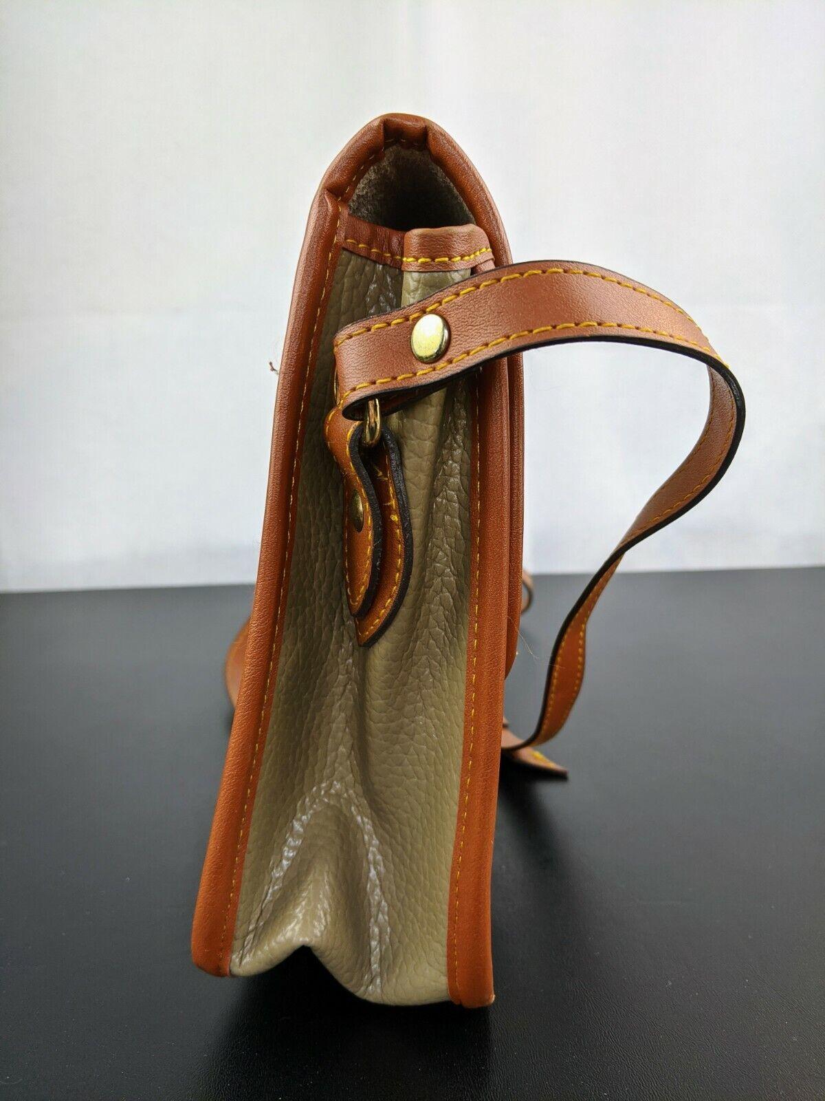 Dooney & Bourke Tan Brown Small Purse Handbag Tra… - image 6